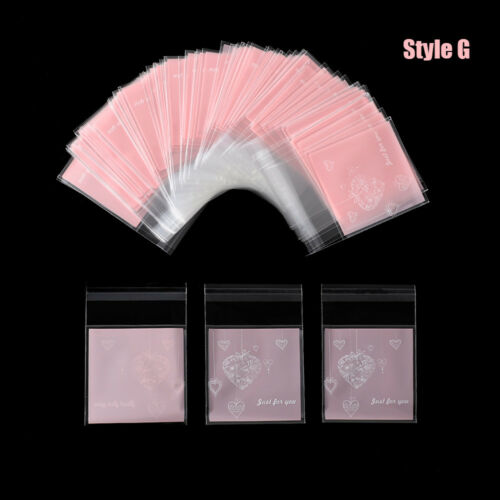 100pcs Plastic Self Adhesive Transparent Candy Cookie Gift Bag DIY Wedding Party