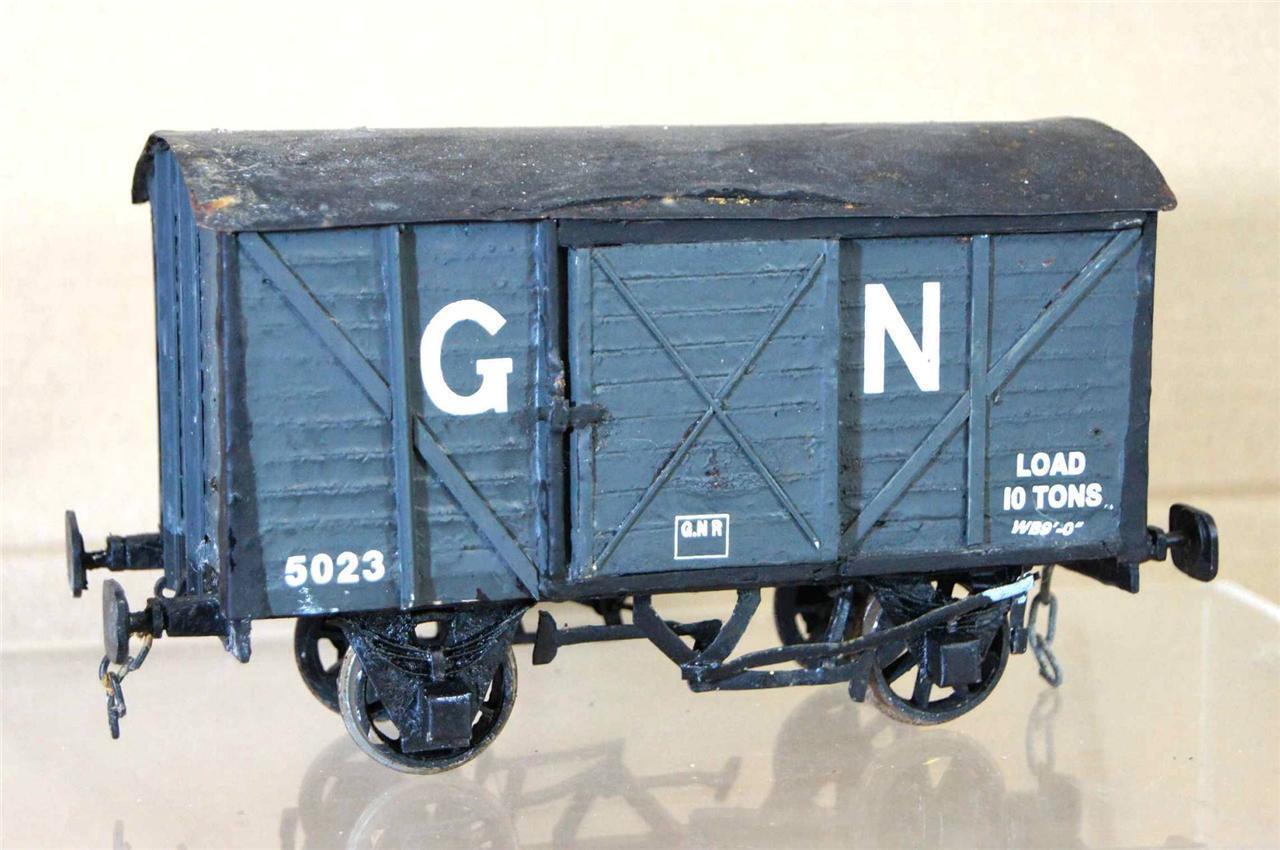G G1 GAUGE 1 KIT BUILT GN 10 TON EXTERNAL FRAME CLOSED VAN WAGON 5023 NICE ei