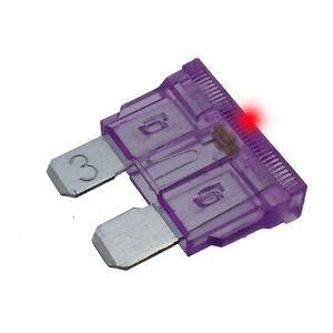 Car Spare 100x Standard Blade Fuses 3 Amp For Marine /& Automotive