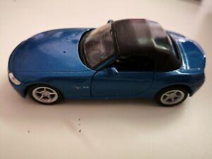 Welly-1-34-BMW-z4-Cabrio-Blu-senza-imballaggio-originale-da-COLLEZIONE