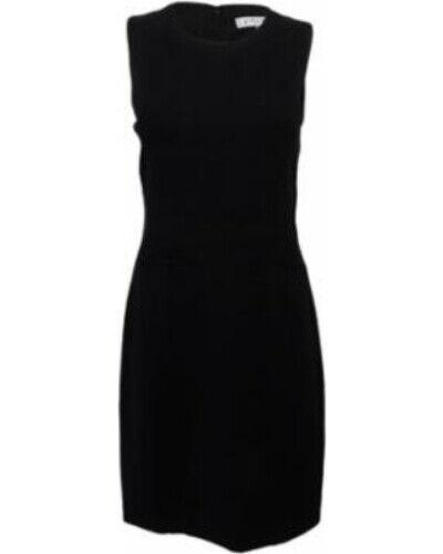 Kasper Woherren schwarz Größe 8 Sleeveless Knee Length Sheath Dress Work Attire (102