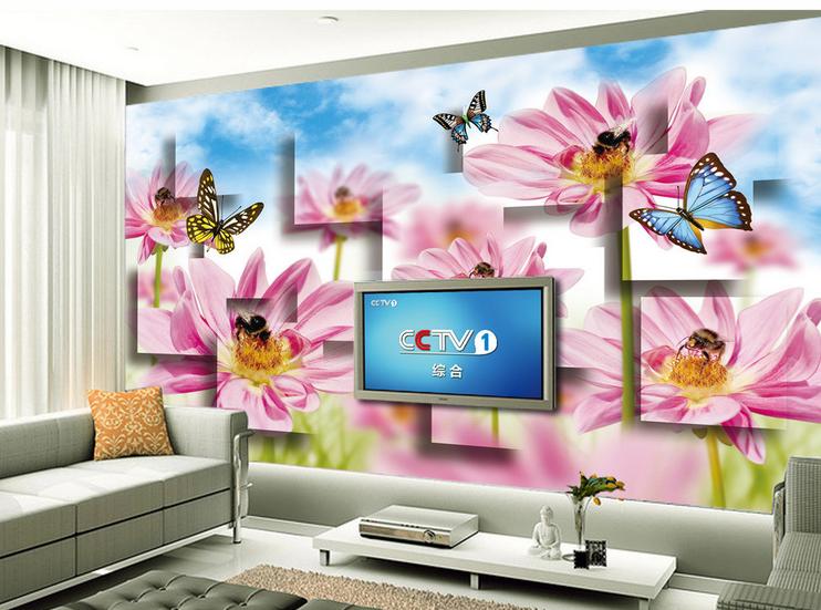 3D Bienen-Schmetterling 753 Tapete Wandgemälde Tapete Tapeten Bild Familie DE   Treten Sie ein in die Welt der Spielzeuge und finden Sie eine Quelle des Glücks    Lebendige Form    Authentisch