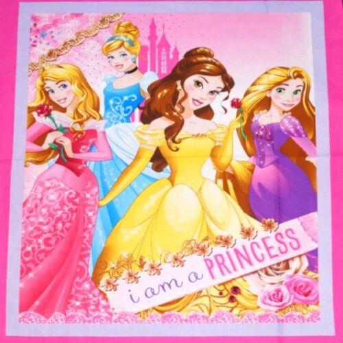 je suis une princesse sparkle floral 112 cm x 90cm 100/% coton toile Disney