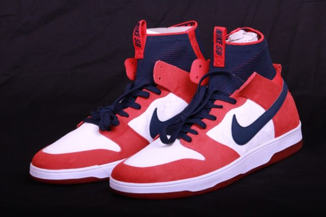 premium selection 35313 f9630 Nike Men's SB Zoom Dunk High Elite UNIVERSITY RED COLLEGE NAVY 917567 641  Sz 13