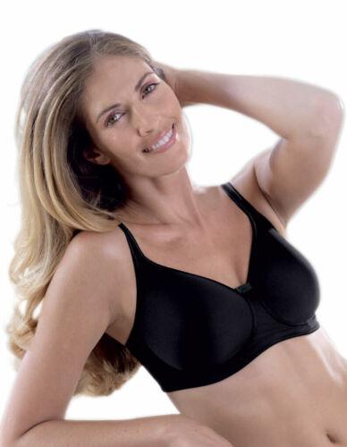 Anita Care 5706X-001 Tonya Black Padded Non-Wired Mastectomy Bra