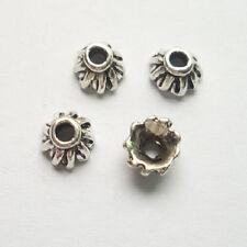 60pcs beautiful Tibet silver Flower End Beads Caps 4x7mm