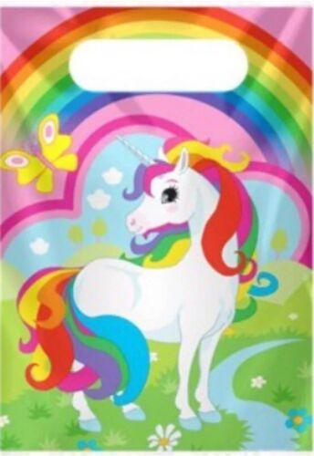 Unicornio Fiesta de Cumpleaños cubierta de tabla Placas Tazas Servilletas Globos Remolinos Confeti