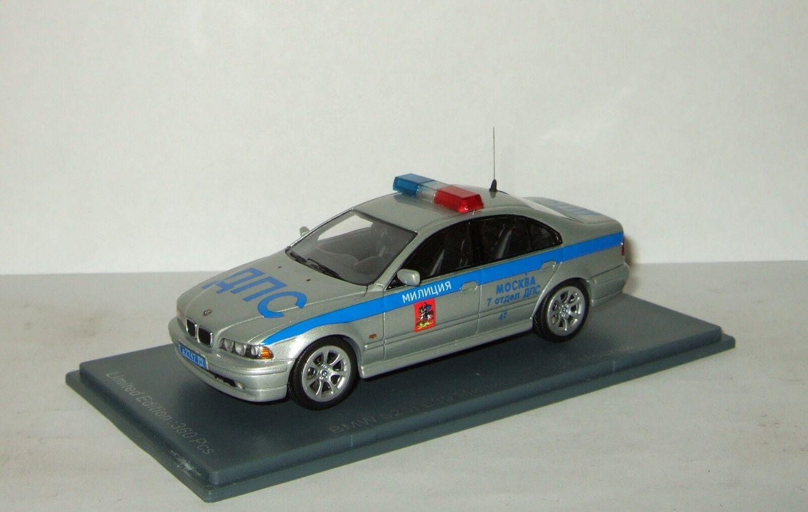 1 43 Neo BMW 525 I E39 la policía rusa milicia de Moscú 2002 limusina Neo 44443