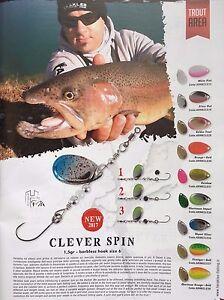 Forellen Killer Spinner mit Einzelhaken Spin Ultralight Trout 2 Farbig 1,5g NEU