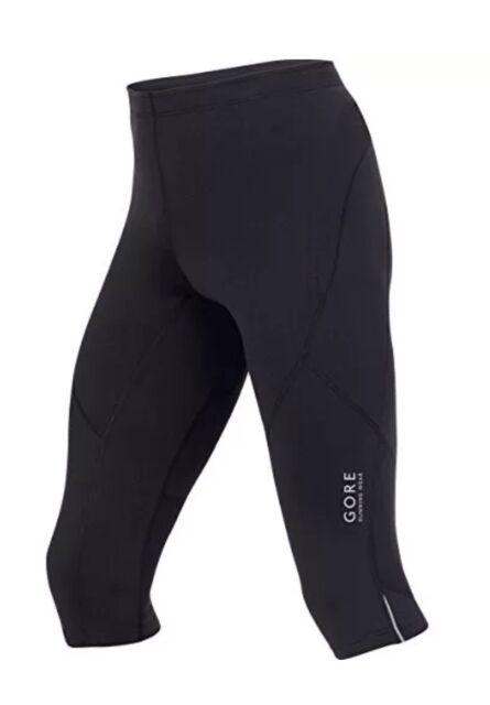 Gore Running Wear Essential, Leggings Da Corsa a 3/4 Da Uomo, Nero, XL