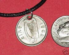 AUTHENTIC IRISH IRELAND CELTIC HARP/ RABBIT PENDANT COIN NECKLACE