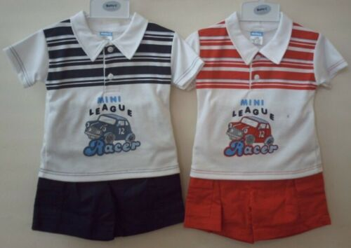 Baby Boys Kids T-shirt /& Shorts Summer Outfit Set Pj Short Sleeve 6 to 23 Months
