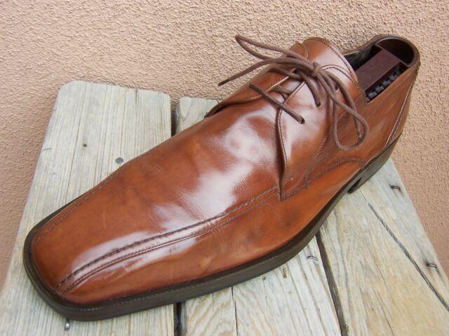 MEZLAN Mens Dress Shoes Soft Cognac Brown Casual Comfort Lace Up Oxford Size 11M