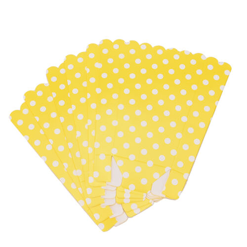 Birthday Party Favour Loot Paper Bags  DSUK 6 Popcorn  BOXES Polka Dots Spots