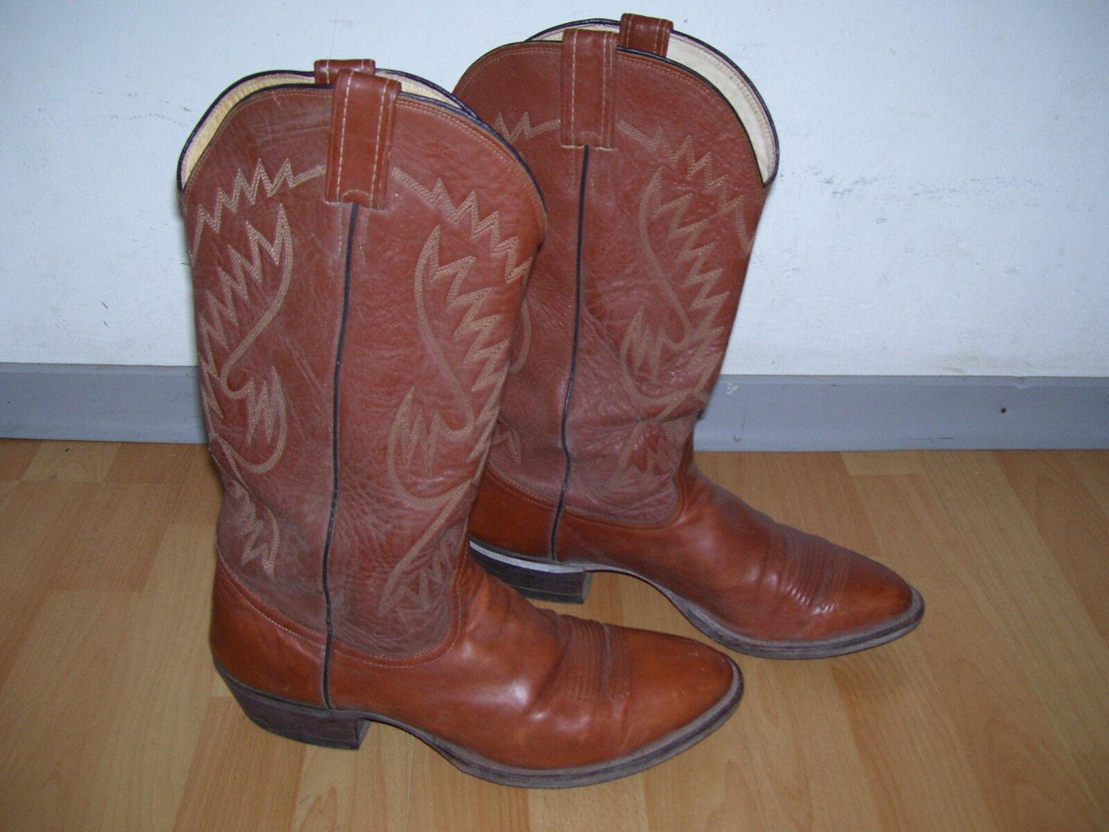 Raita Western Stiefel Gr,12 braun Echtleder