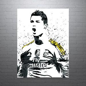 Cristiano Ronaldo Real Madrid Soccer Futbol Poster FREE US SHIPPING