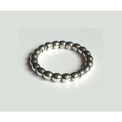 GENUINE PANDORA Silver Bubble Stacking Ring 190381 FREE DELIVERY