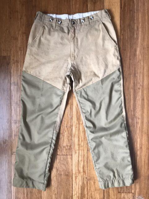 Remington Mens XL Upland Field Pants Hunting Briar Khaki Canvas Brush 36 x 30