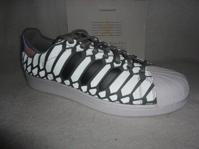 adidas Superstar XENO Mens D69367 Onix Grey Reflective Shell Toe Shoes Size 13
