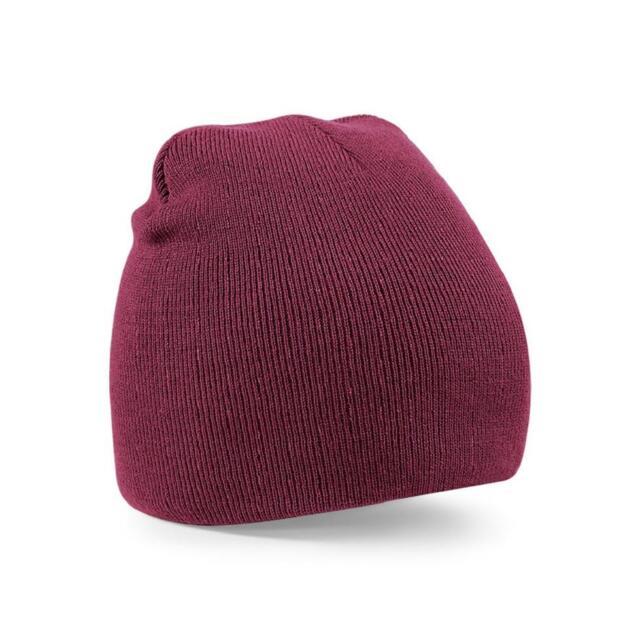d008f0b3fa8 Adults Original Pull on Beanie Hat Plain Mens Womens Beechfield Bb44 ...