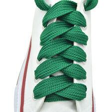 "2 Pairs Flat Thick Shoelaces 3/4"" Wide Shoelaces 35 Colors"