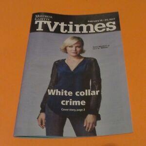 Tv Guide Montreal >> 2017 Tv Times Montreal Gazette Edition Malin Akerman Billions Tv