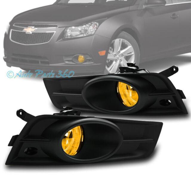 09 14 chevy cruze bumper driving yellow fog light black cover wiring rh ebay com chevy cruze headlight wiring harness chevy cruze fog light wiring harness