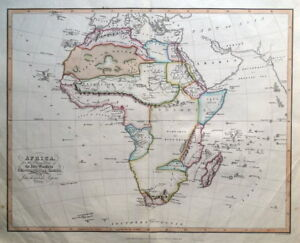 AFRICA-Abbe-Gaultier-original-antique-map-1829