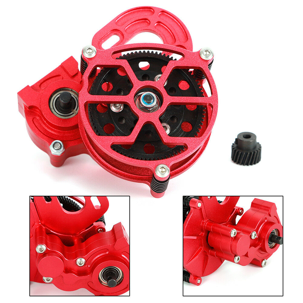 RC 1 10 Axial SCX10 CNC Assembled Assembled Assembled Center Transmission Gearbox With Motor Gear US eb2dc2