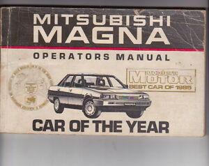 1986 mitsubishi tm magna australian owners manual ebay image is loading 1986 mitsubishi tm magna australian owners manual publicscrutiny Gallery