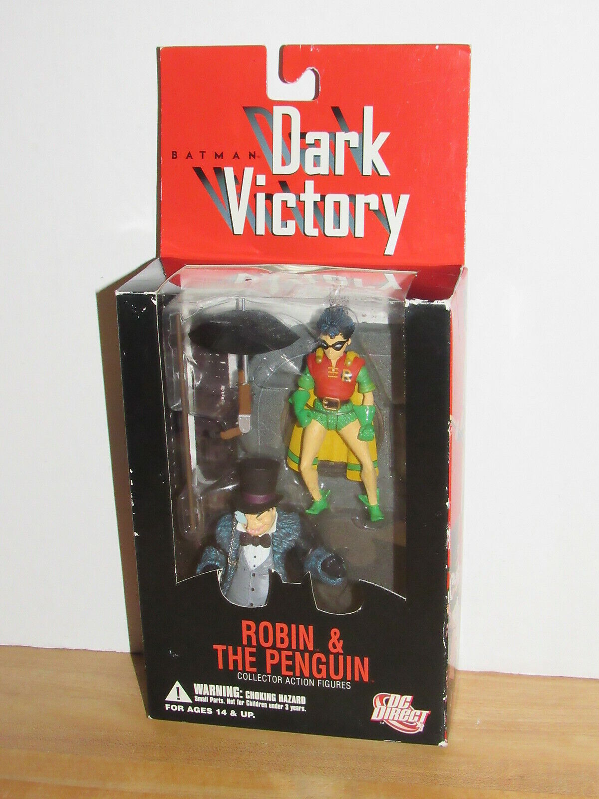DC Direct Batman Dark Victory Robin & Penguin MOC MOSC MIB MISB new sealed