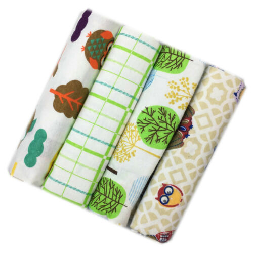 4pcs//Pack 100/% Cotton Flannel Baby Swaddle Blanket Newborn Soft Throw Bed sheet