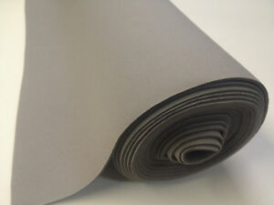 auto headliner upholstery fabric with foam backing 108 x 60 light gray ebay. Black Bedroom Furniture Sets. Home Design Ideas