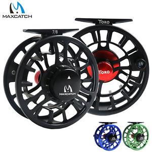 Maxcatch-Toro-Fly-Fishing-Reel-3-4-5-6-7-8WT-CNC-Machined-Aluminum-Large-Arbor