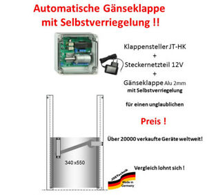 Huehnerklappe-JT-HK-Steckernetzteil-Gaenseklappe-mit-Selbstverriegelung