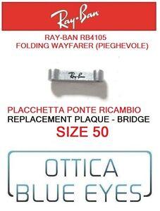 Ray Ban Rb4105 50 Folding Wayfarer Ponte Placchetta Ricambio Bridge