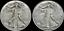 1-00-Face-Value-Two-2-039-Junk-039-Walking-Liberty-Half-Dollars-90-SILVER-US-Coins thumbnail 1
