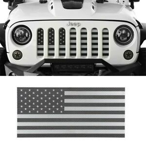 Front Insect Proof Usa Flag Grille Insert Mesh Guard For Jeep