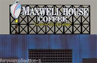 Miller's Maxwell House Animated Neon Sign O/ho Scale Miller Engineering