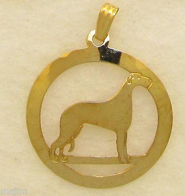 Scottish Deerhound Jewelry Gold Dangle Earrings