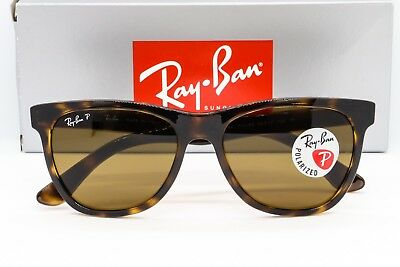 77a80f34bcb43 NEW RAY-BAN RB4184 POLARIZED SUNGLASSES 710 83 Havana Tortoise   Brown  Classic