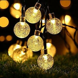 Image Is Loading 30 X LED Solar String Lights Garden Patio
