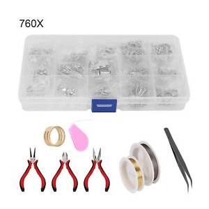 Earring-Jewellery-Making-Kit-Wire-Findings-Pliers-Starter-Tool-Necklace-Repair