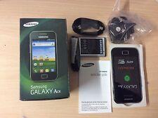 SAMSUNG Galaxy Ace gt-s5830i Sbloccato Nero Android Smartphone Nuovo di Zecca inutilizzati