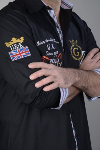"Golden Crown /""UK Polo/"" Hemd schwarz l-6xl"
