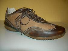 GEOX Respira Damen Schuhe Sneaker Leder Braun Gr.39 LP110€ TOP