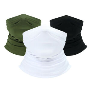 Summer Face Cover Neck Gaiter Tube Cooling Sunblock Bandana for Outdoor Sports
