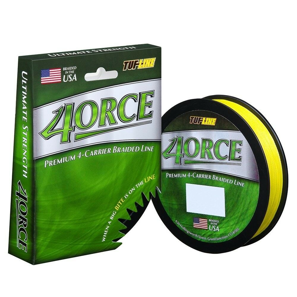 Tuf Line 4Orce (2) 300 yards Fishing Braided Line 20 lb test