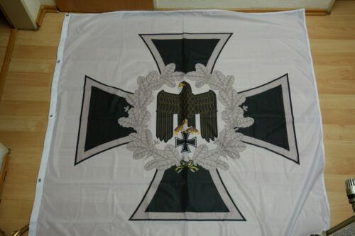 Fahne Flagge Standarte Heeresfahne Adler Weiß 150 x 150 cm
