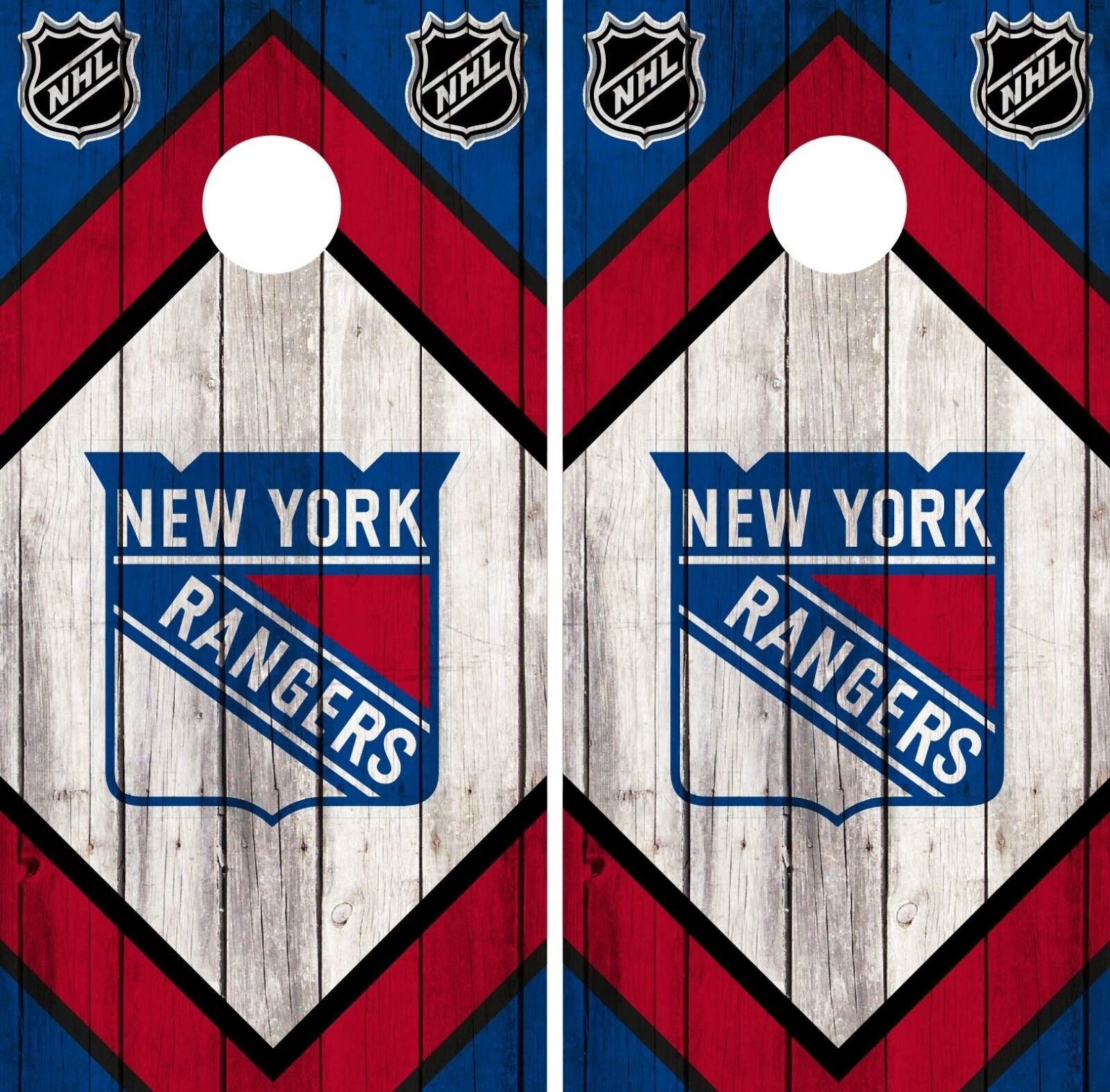 New  York Rangers Cornhole Wrap NHL Game Board Skin Set Vinyl Decal Art CO249  just buy it